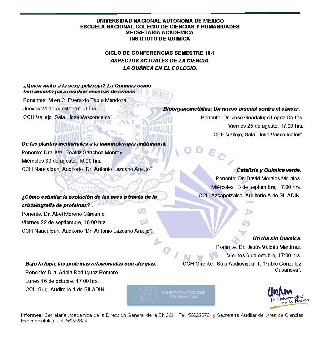 Conferencias química